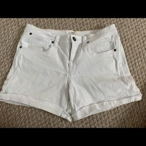 White J.Crew jean shorts